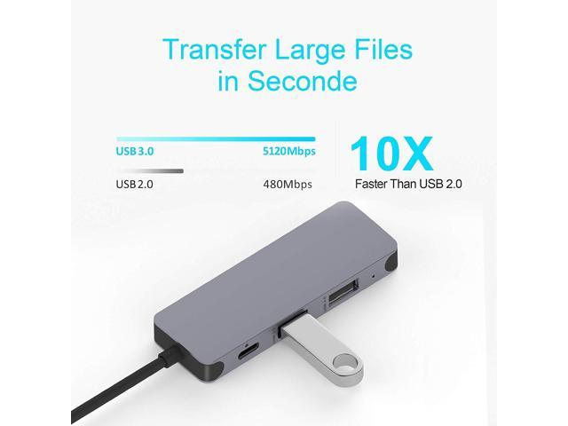 7 in 1 Type C Adapter with 100W Power Delivery SD//TF Card Reader Chromebook and Other Type C Windows Laptops LHMZNIY USB C Hub 4K USB C to HDMI 3 USB 3.0 Ports for MacBook//Pro//Air