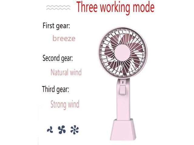 YANGYA Mini Handheld Fan USB Desk Portable Desktop Table Cooling Rechargeable Electric Fan for Home Office Travel Outdoor-Pink