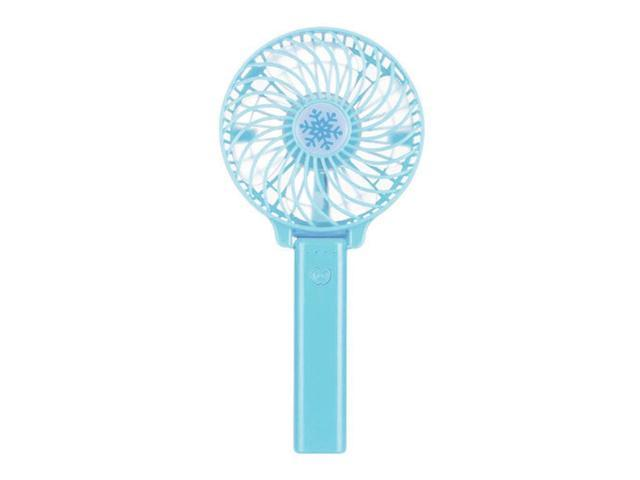 Mini Portable Cooling Fan Cartoon Handheld USB Fan Rechargeable Cellphone Stand Holder with LED Light Cooler Portable 3 Speed Desktop Color : Blue