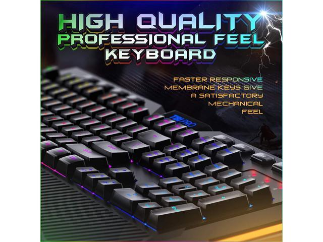 Color : Black axis JINXUXIONGDI RGB Game Mechanical Mouse Keyboard Set USB Interface Wired Backlit Game Home Office Computer Notebook Typing White, Black Axis, Blue Axis