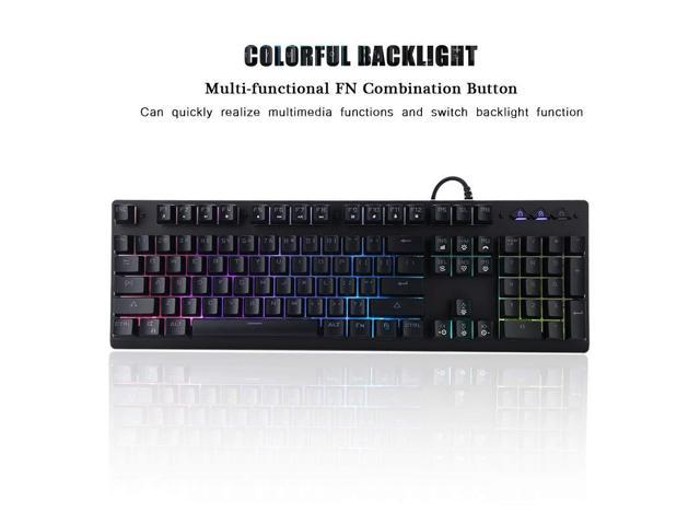 QIANZICAI Single Hand Mechanical Gaming Keyboard, USB Wired Gaming Keypad Wide Hand Rest with 38 Keys RGB Gaming Keyboard Colorful Backlight for Game Keyboard