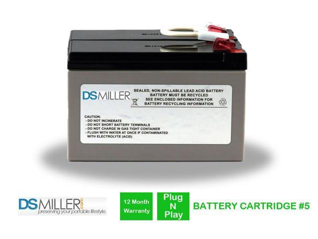 RBC5 UPS Complete Replacement Battery Kit for APC Cartridge #5