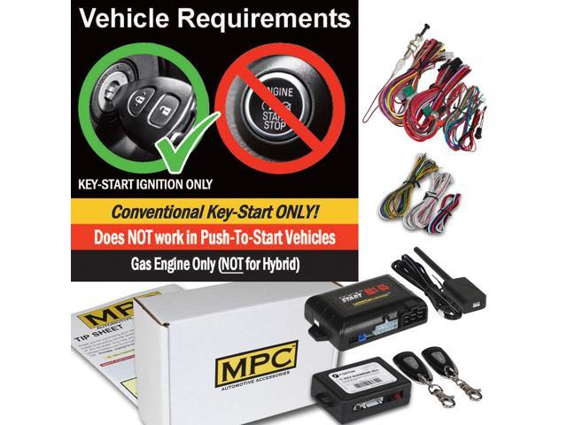 MPC Complete 1-Button Remote Start Kit for 2004-2005 Toyota Rav4 Firmware Preloaded