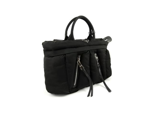 22ae5b6d636b Prada BN2617 TESSUTO BOMBER Nylon Fabric Tote Bag Black ...