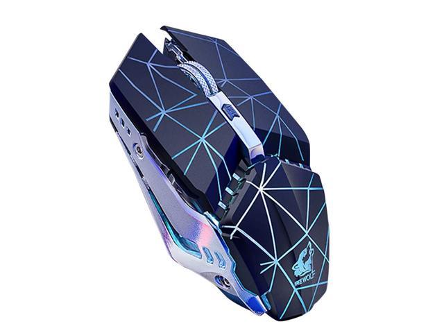 Light Color Change Pro Gamer PC Gaming Mice Desk Decor Black FAgdsyigao Optical 6 Button LED USB Wired Mouse