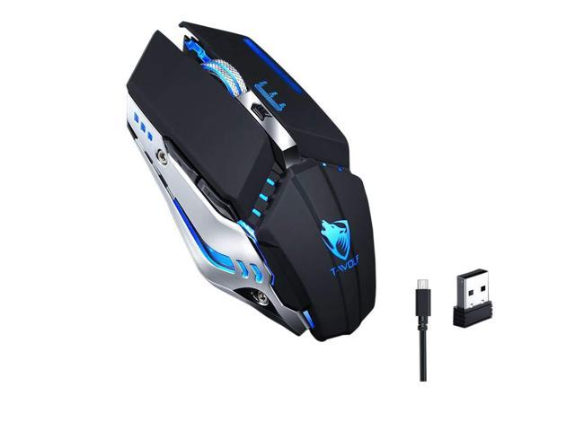 OUYAWEI Hot Ergonomic Wireless Mouse 2.4G 2400DPI Optical Gaming Mouse for Laptop Computer White