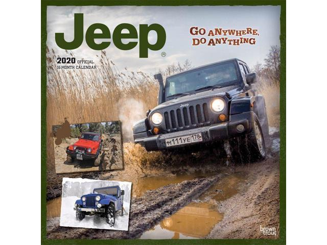 Jeep Calendar 2020 2020 Jeep Wall Calendar, by BrownTrout   Newegg.com