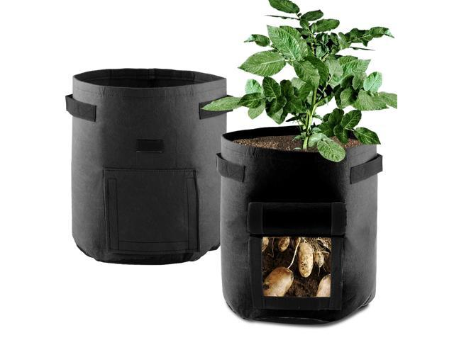 7 Gallon Potato Grow Bag Non Woven Planting Pot Vegetables Growing Planter