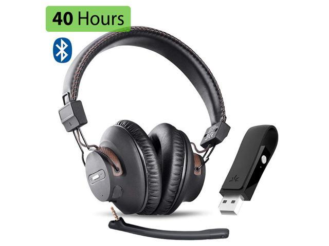 Avantree Dg59m Wireless Gaming Headphones Set With Detachable Boom Mic And Bluetooth Usb Audio Dongle For Ps4 Pc Laptop Computer Nintendo Switch Chat Music Easy Mute No Delay 40hrs Play Time