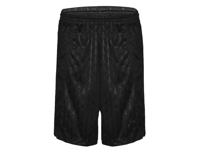 5ac4b32fd9e9 Jordan Big Boys  (8-20) Dri-Fit Nike Flight Knit Basketball Shorts-Black ...