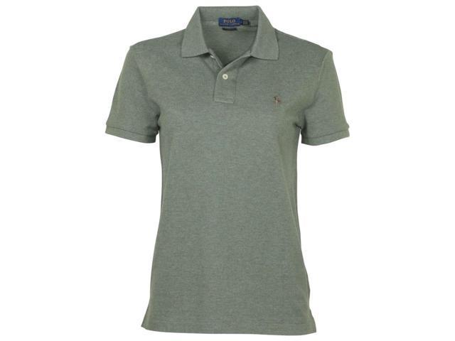 8210246a4e6 Polo Ralph Lauren Women s Classic Fit Mesh Pony Shirt-Green Grey-Small