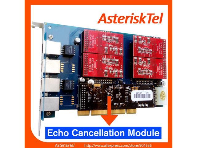 Asterisk FXO Card TDM410P with Echo Canceller Hardware,4 FXO Port PCI  Card,tdm400p,tdm410,digium FXO analog board For Asterisk PBX SIP Phone PABX