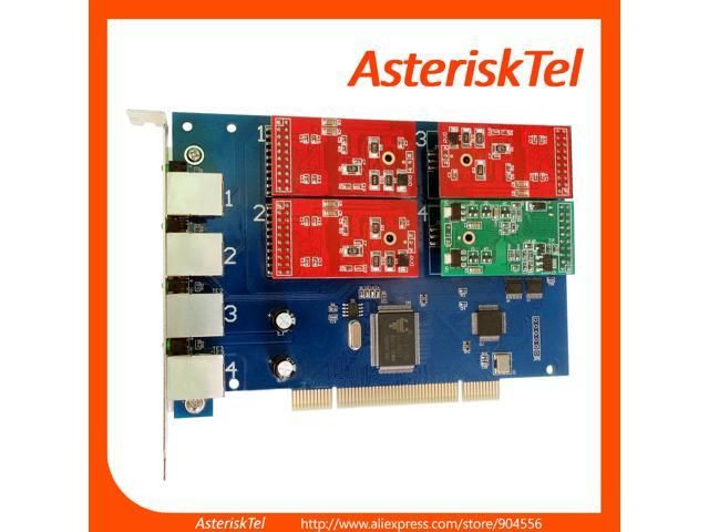 Asterisk Card TDM410P with 3 FXO+1 FXS Modules,Supports Asterisk Elastix  FreePbx Dahdi,PCI FXS FXO Card tdm400p For VoIP Gateway PBX SIP phone ip  pbx