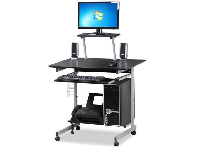 Yaheetech Computer Desk Workstation With Keyboard Tray Printer Shelf And Monitor Stand Home Office