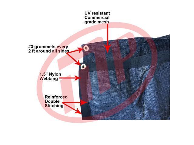 Size 20 Ft X 50 Ft 90 Black Premium Shade Fabric Shade Cloth