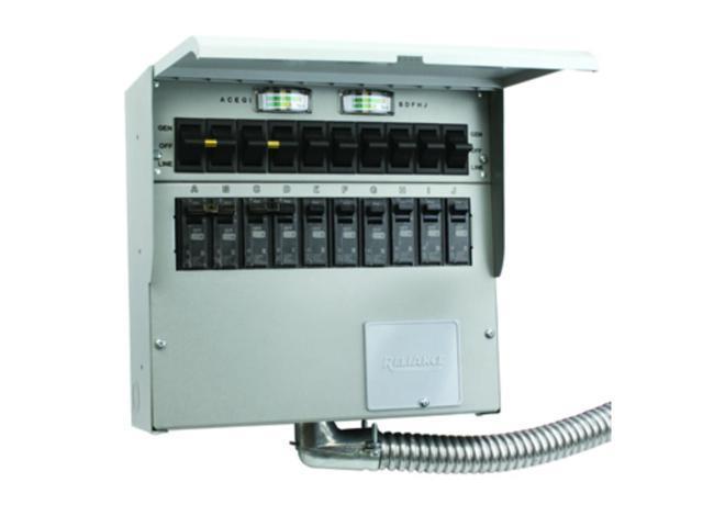 10 Circuit Generator Transfer Switch - Wiring Diagram •