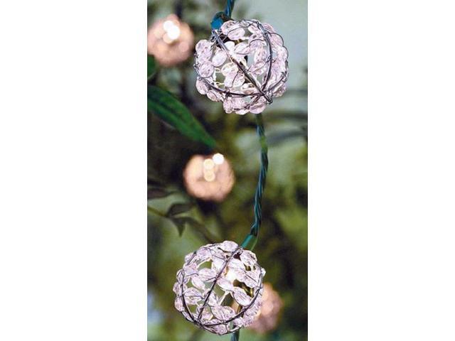 L Multicolored Teardrop Globe Light Set Living Accents 7.5 ft