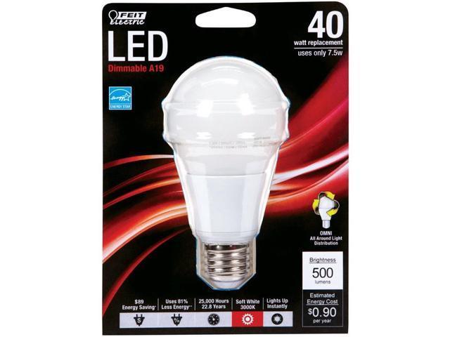 120 Volts Feit Electric Om40dm//930ca//2 A-line Led Light Bulbs 5 Watts