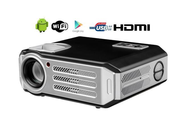 Wirelss 1080P Full HD WIFI Projector 4800 Lumen LED Home Theater Cinema  Android Projector support Red & blue 3D HD TV PC Work with Blu-ray XBOX PS4
