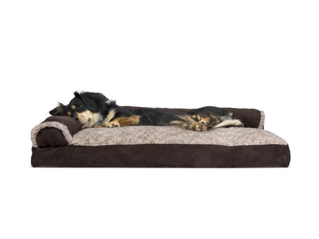 Enjoyable Furhaven Pet Dog Bed Faux Fur Suede Chaise Lounge Pillow Sofa Style Pet Bed For Dogs Cats Espresso Medium Machost Co Dining Chair Design Ideas Machostcouk