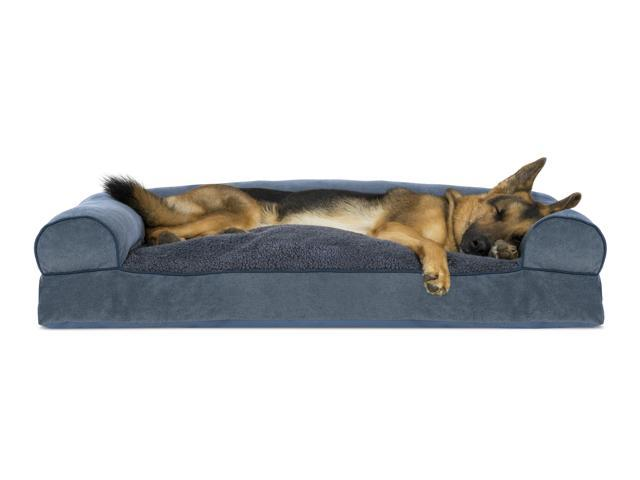 Remarkable Furhaven Pet Dog Bed Faux Fleece Chenille Soft Woven Pillow Sofa Style Couch Pet Bed For Dogs Cats Orion Blue Jumbo Ibusinesslaw Wood Chair Design Ideas Ibusinesslaworg