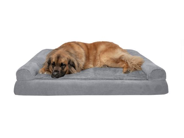 Fantastic Gray Jumbo Orthopedic Ultra Plush Sofa Style Couch Pet Bed Bralicious Painted Fabric Chair Ideas Braliciousco