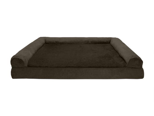 Fine Furhaven Pet Dog Bed Memory Foam Plush Suede Couch Sofa Style Pet Bed For Dogs Cats Espresso Jumbo Plus Ibusinesslaw Wood Chair Design Ideas Ibusinesslaworg