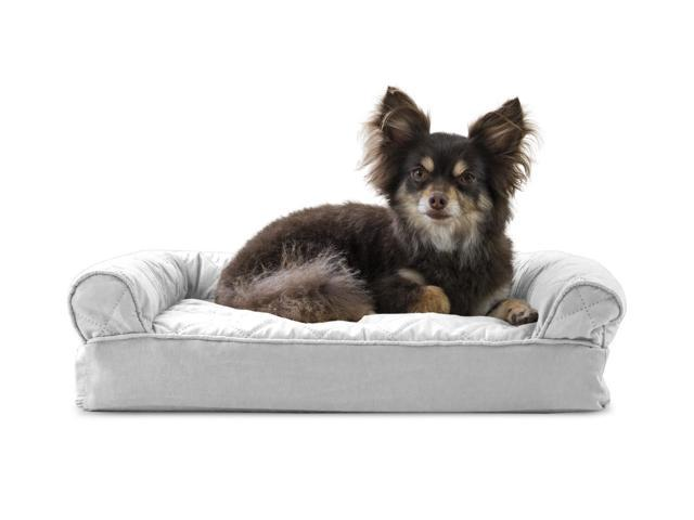 Excellent Furhaven Pet Dog Bed Memory Foam Quilted Couch Sofa Style Pet Bed For Dogs Cats Silver Gray Small Creativecarmelina Interior Chair Design Creativecarmelinacom