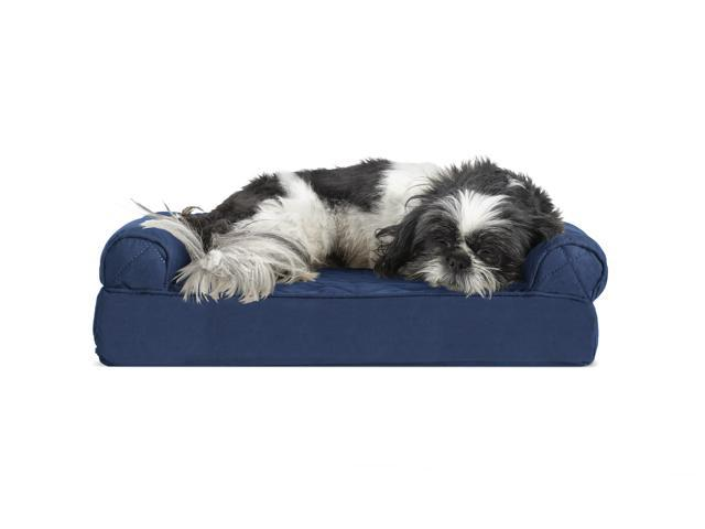 Groovy Furhaven Pet Dog Bed Cooling Gel Memory Foam Orthopedic Quilted Sofa Style Couch Pet Bed For Dogs Cats Navy Small Gmtry Best Dining Table And Chair Ideas Images Gmtryco