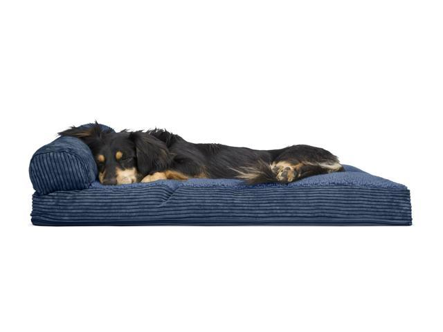 Excellent Furhaven Pet Dog Bed Faux Fleece Corduroy Chaise Lounge Pillow Sofa Style Pet Bed For Dogs Cats Navy Medium Newegg Com Andrewgaddart Wooden Chair Designs For Living Room Andrewgaddartcom