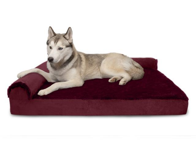 Sensational Furhaven Pet Dog Bed Deluxe Memory Foam Chaise Plush Velvet L Shaped Lounge Sofa Pet Bed For Dogs Cats Merlot Red Jumbo Newegg Com Andrewgaddart Wooden Chair Designs For Living Room Andrewgaddartcom