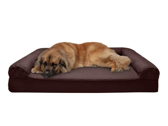 Pleasing Furhaven Pet Dog Bed Memory Foam Quilted Couch Sofa Style Pet Bed For Dogs Cats Coffee Jumbo Plus Newegg Com Ibusinesslaw Wood Chair Design Ideas Ibusinesslaworg