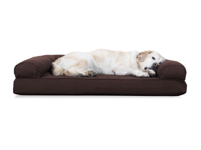 Peachy Furhaven Pet Dog Bed Cooling Gel Memory Foam Orthopedic Quilted Sofa Style Couch Pet Bed For Dogs Cats Coffee Jumbo Newegg Com Gmtry Best Dining Table And Chair Ideas Images Gmtryco