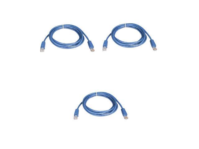 BattleBorn 5 Pack Lot 25ft CAT6 Ethernet Network LAN Patch Cable Cord 550MHz RJ45 Blue