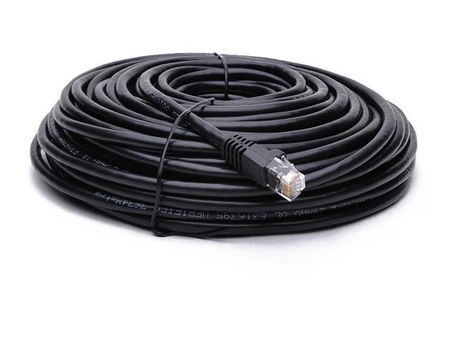 Black BB-C6AMB-50BLK BattleBorn 10 Pack 50 Foot Copper CAT6a Ethernet Network Patch Cable 24AWG 550MHz