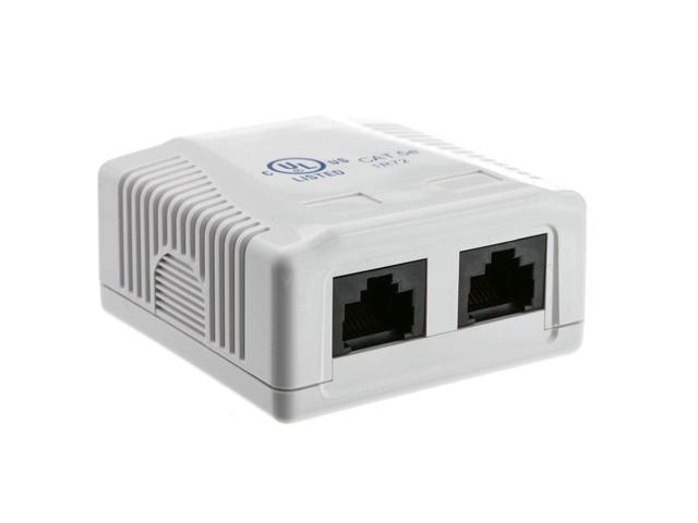 rj45 2 port wall mount biscuit network ethernet utp lan jack white rh newegg com