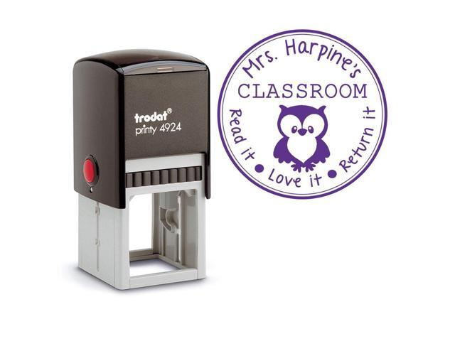 Purple Ink Custom Self Inking Stamp Teacher From The