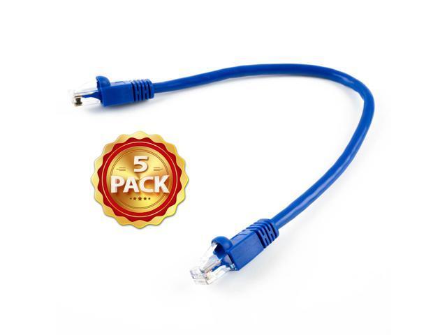 BattleBorn 50 Pack Lot 75 ft Cat5e Cat5 Ethernet Network LAN Patch Cable Black
