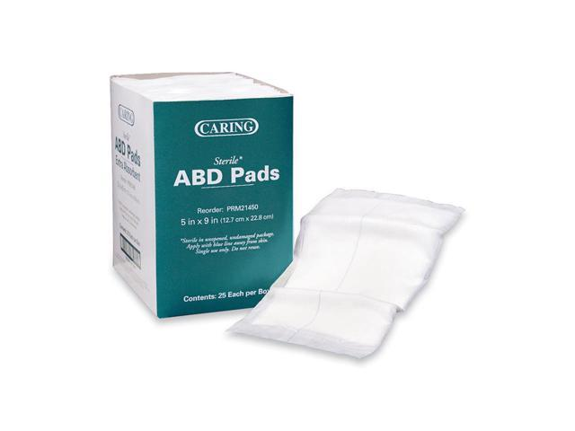 Medline Industries- INC  MIIPRM21450 Abdominal Pads- Sterile- 5in x9in -  White - Newegg com