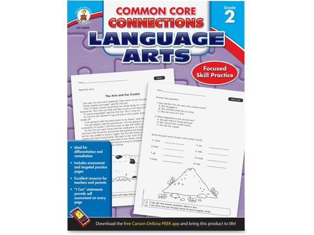 Language Arts Workbook Grade 2 96pgs Multi - Newegg com