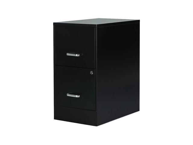 Staples 2 Drawer Vertical File Cabinet Locking Letter Black 22 D