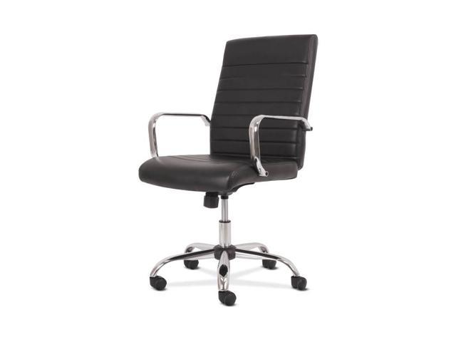 Sadie Executive Computer Chair Fixed Arm For Office Desk Black Leather With Chrome Accents Hvst511 Newegg Com