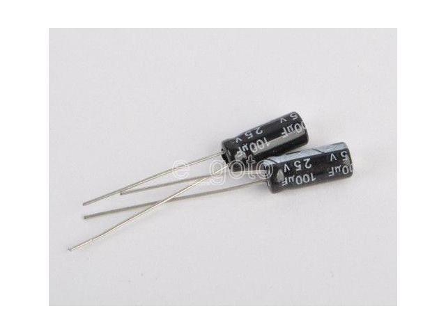 5 Pcs 100uf 25v Radial Electrolytic Capacitors for sale online