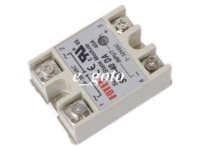 Solid State Relay DC-AC 3-32VDC 24-380VAC SSR-40DA 40A/250V SSR for Arduino  Mega - Newegg ca