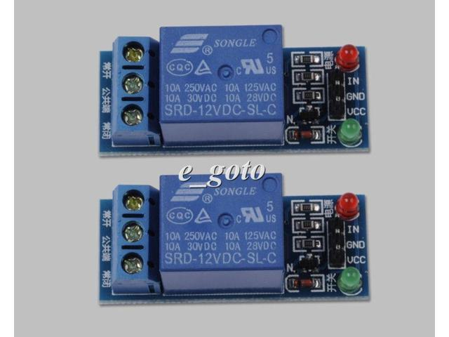 2pcs 5V 1-Channel Relay Module Low Level Triger for Arduino PIC AVR