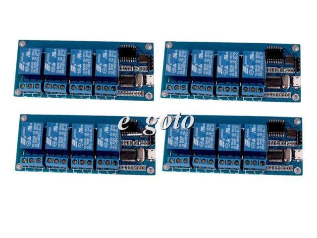 4pcs Micro USB 5V 4-Channel Relay Module USB Control Relay Module for  Arduino - Newegg com