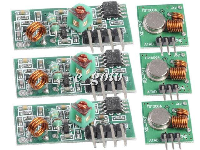 Pcs mhz rf transmitter and receiver kit for arduino