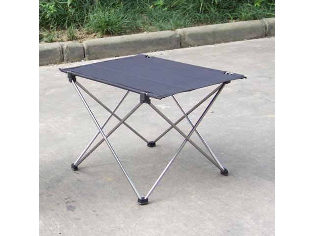 Lightweight Aluminum Outdoor Portable Folding Table Furniture Camping Desk Grey