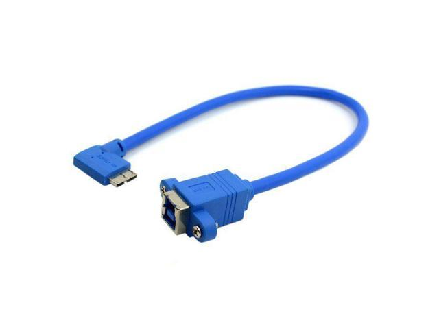 Usb 30 Type B Female To Micro B Male 10pin Left Angled 90 Degree Cable With Panel Mount Screw Holes 25cm Neweggcom