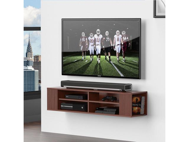 Fitueyes Wall Mounted Audio/Video Console wood grain for xbox one /PS4/  vizio/ Sumsung/sony TV DS212001WB - Newegg com